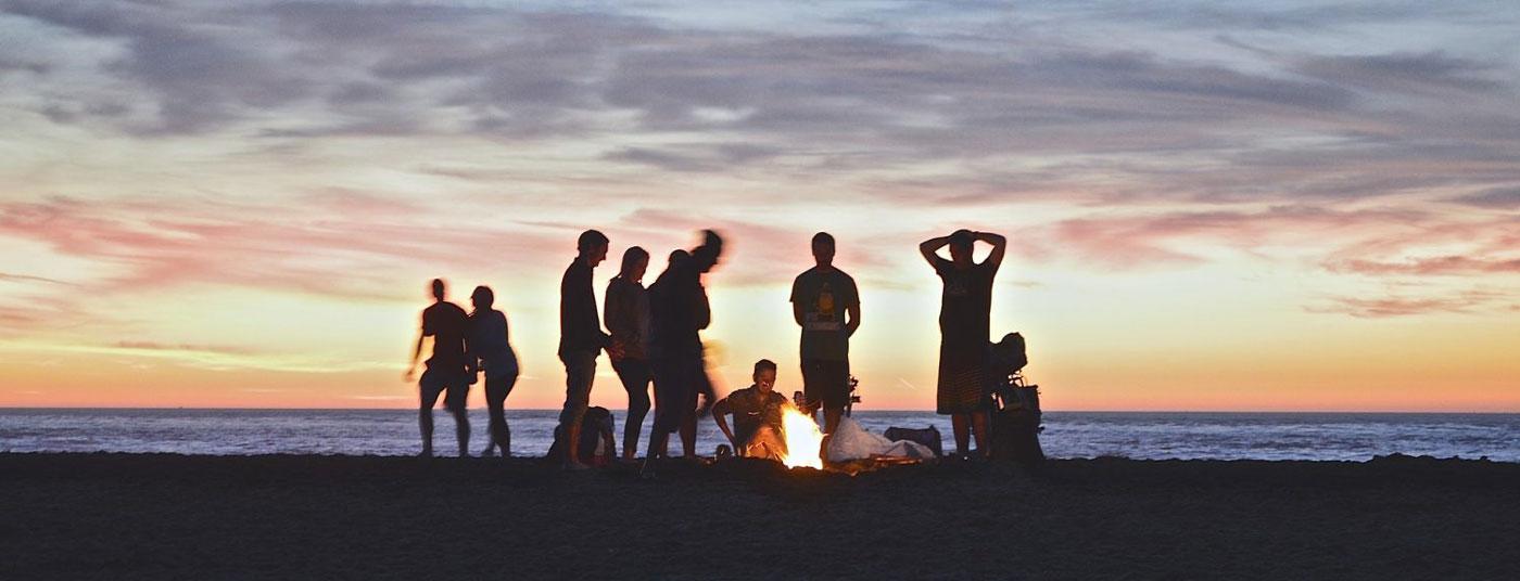 Beach Side Campfire
